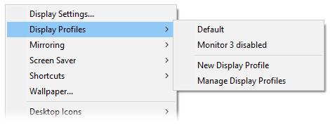 UltraMon Features - Display profiles