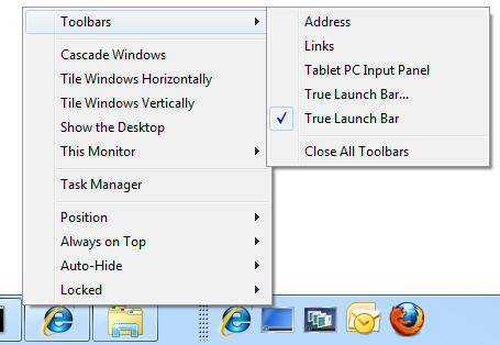 UltraMon Features - Taskbar Extensions / Smart Taskbar